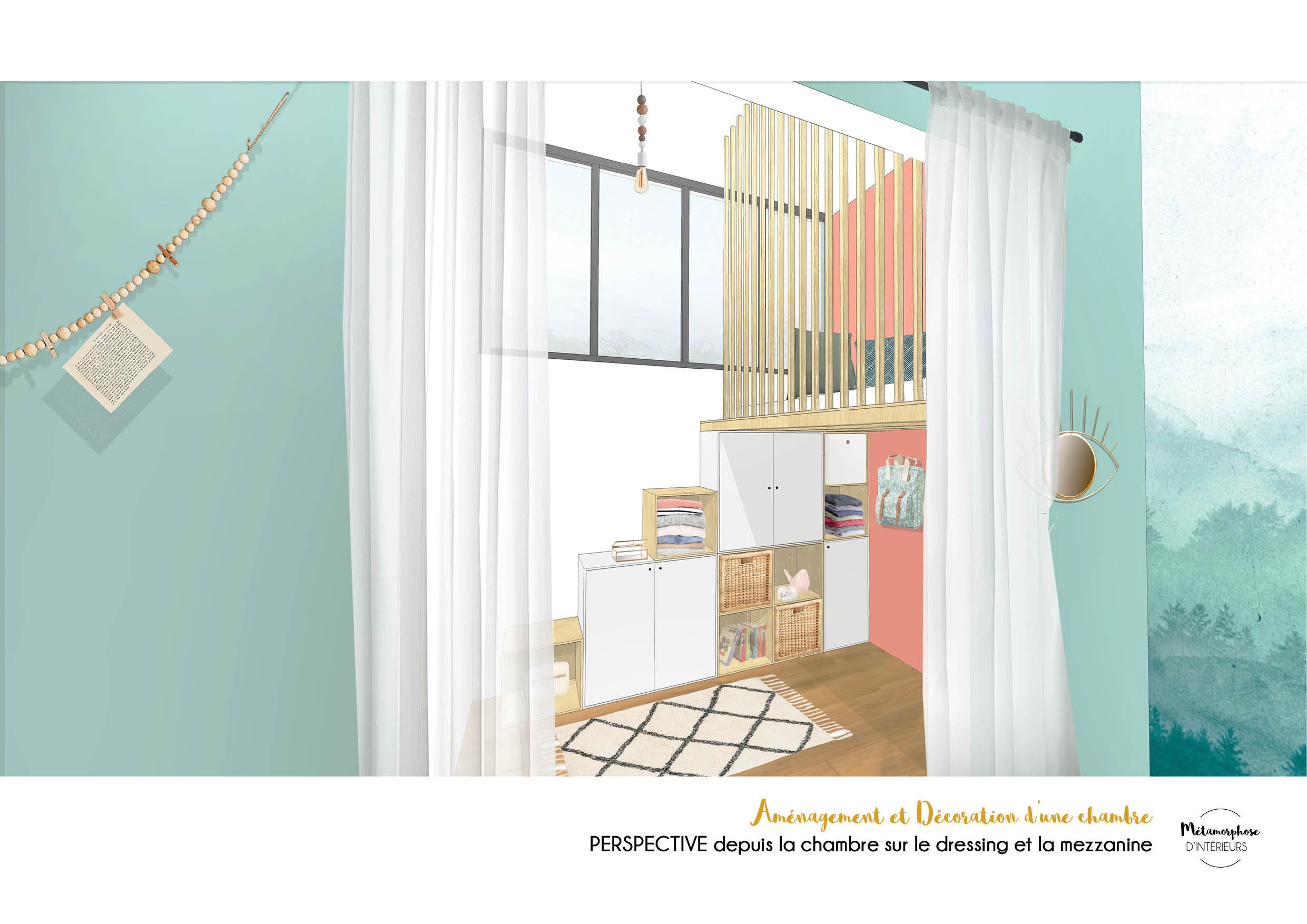 50's - CHAMBRE dressing mezzanine