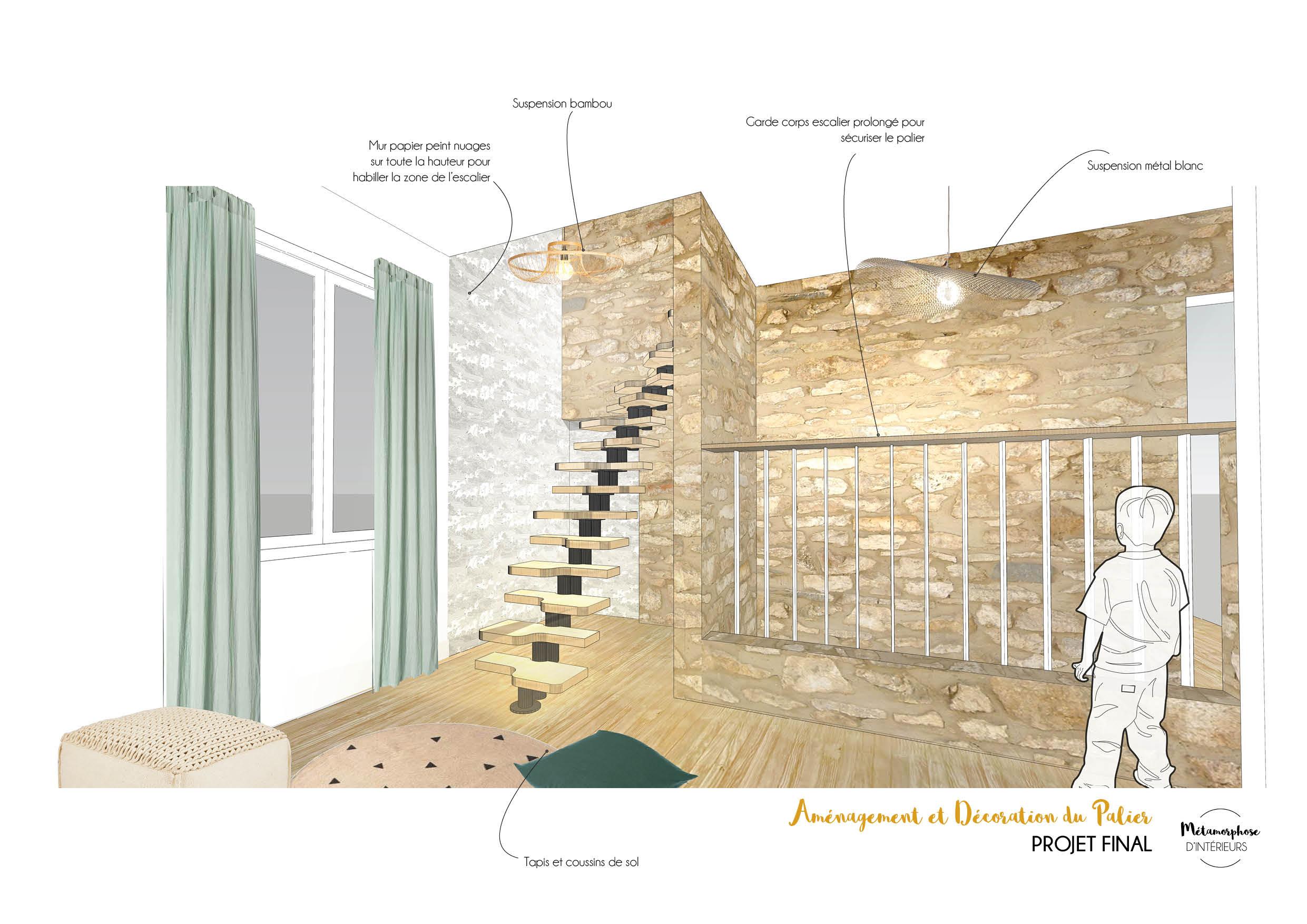BELLEGARDE - Palier pers escaliers chambre