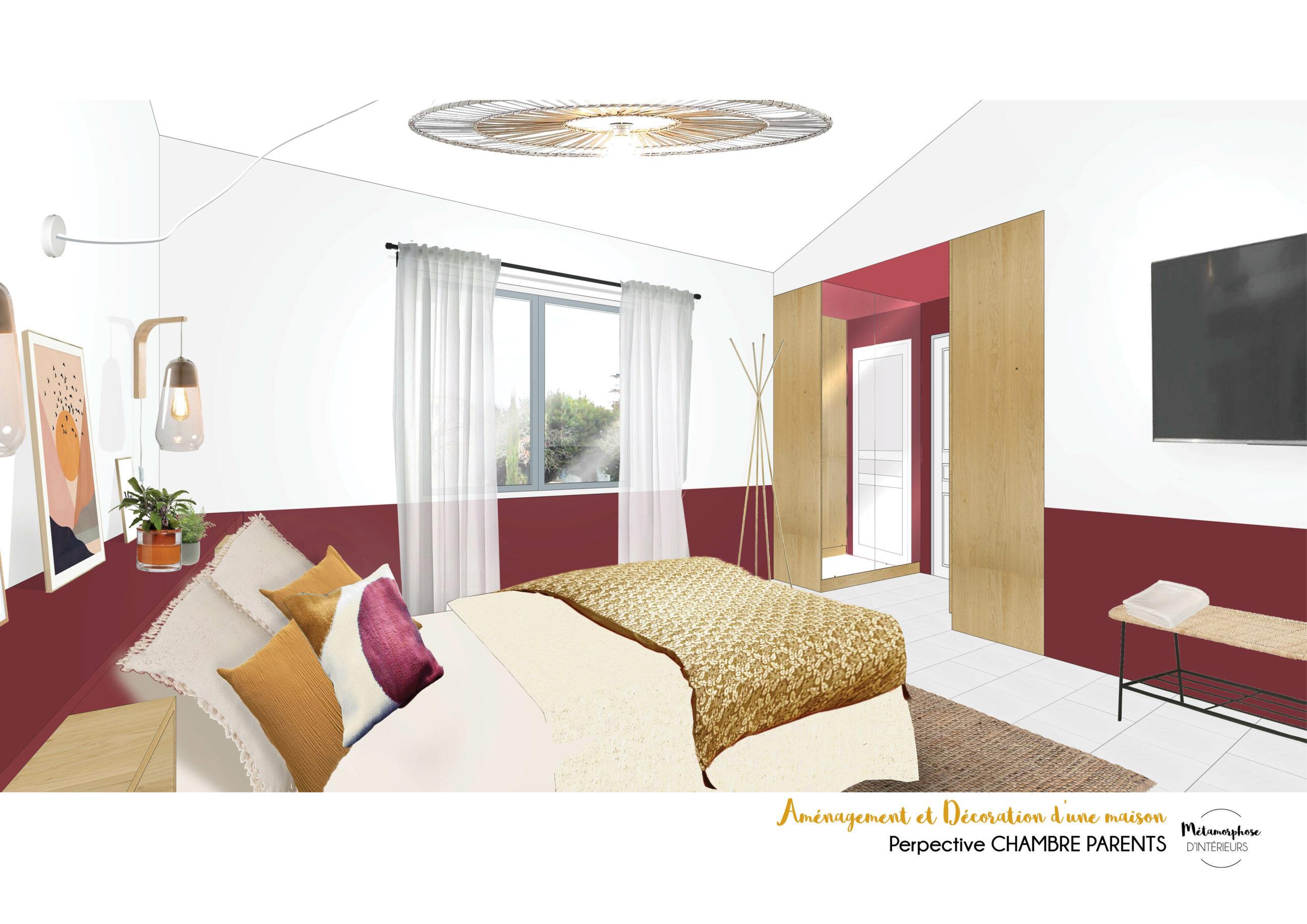 MAISON MANDUEL -Aménagement intérieur et décoration - chambre parentale