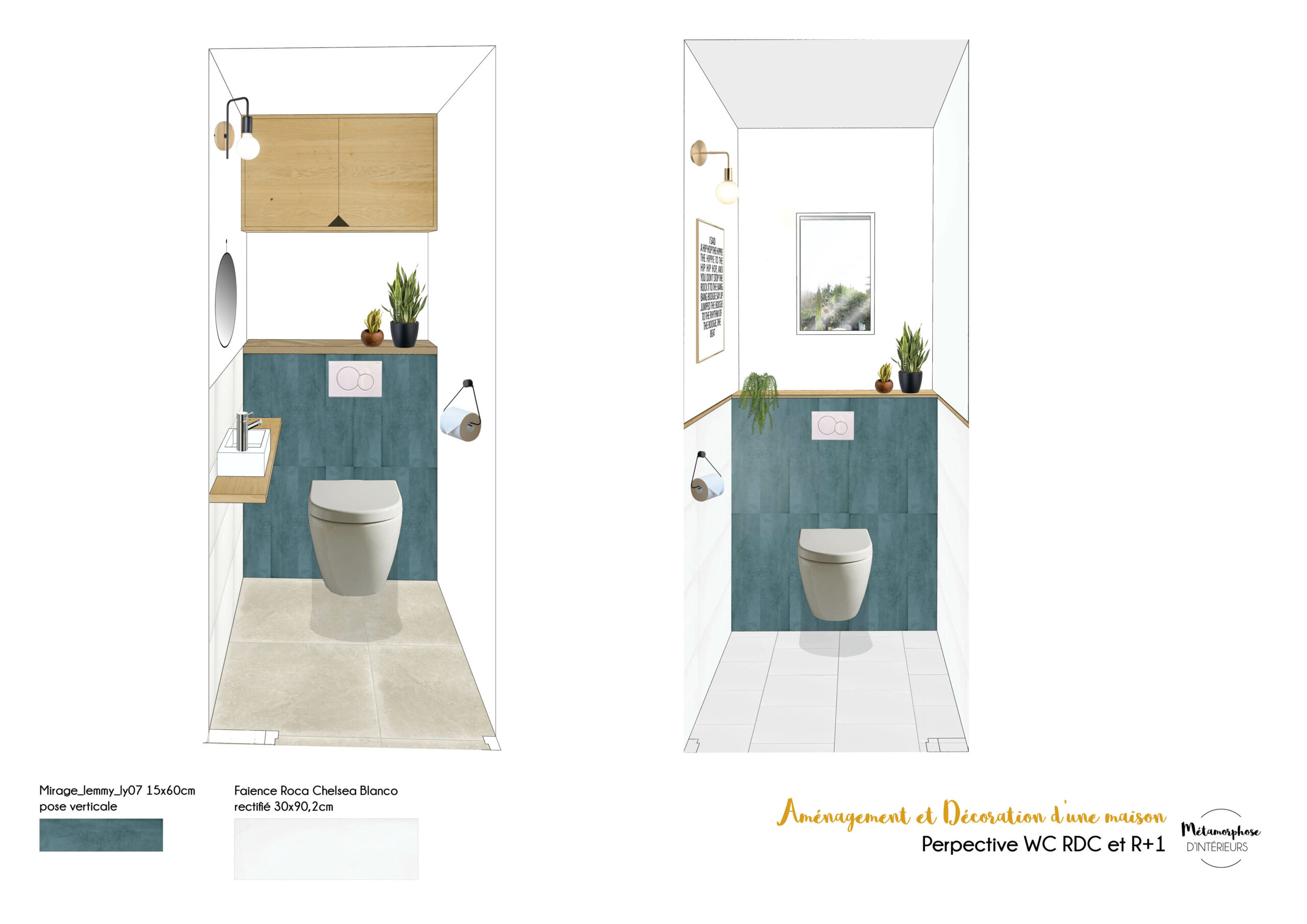 MAISON MANDUEL -Aménagement intérieur et décoration - wc