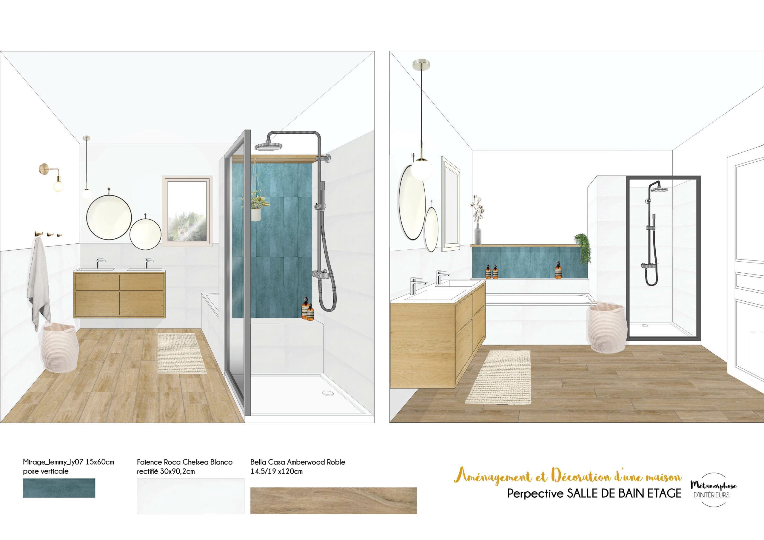 MAISON MANDUEL -Aménagement intérieur et décoration - salle de bain