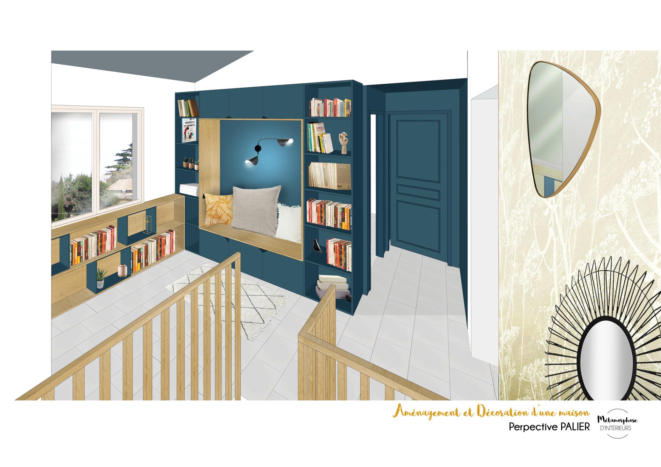 MAISON MANDUEL -Aménagement intérieur et décoration - bibliotheque