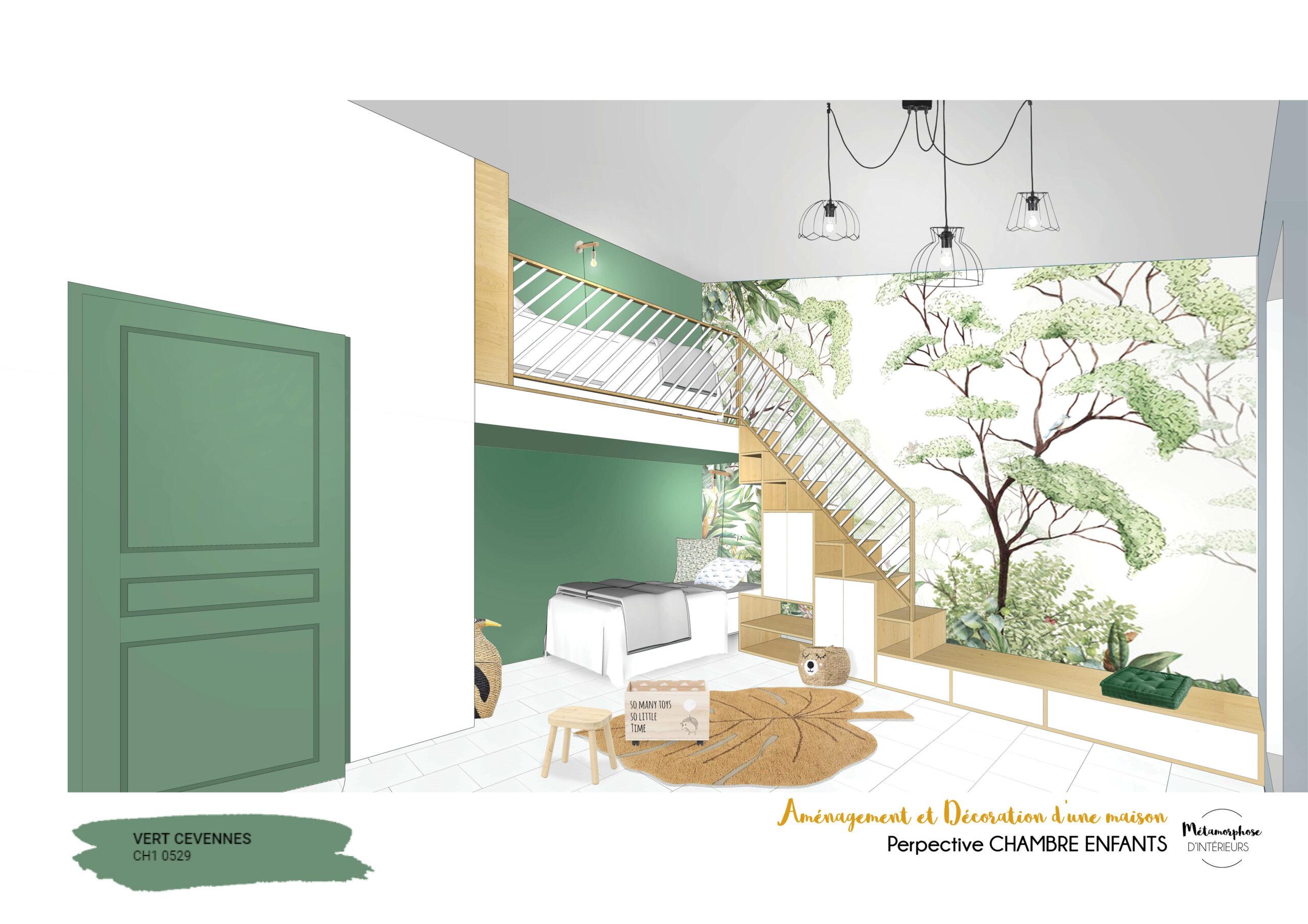 MAISON MANDUEL -Aménagement intérieur et décoration - chambre enfant