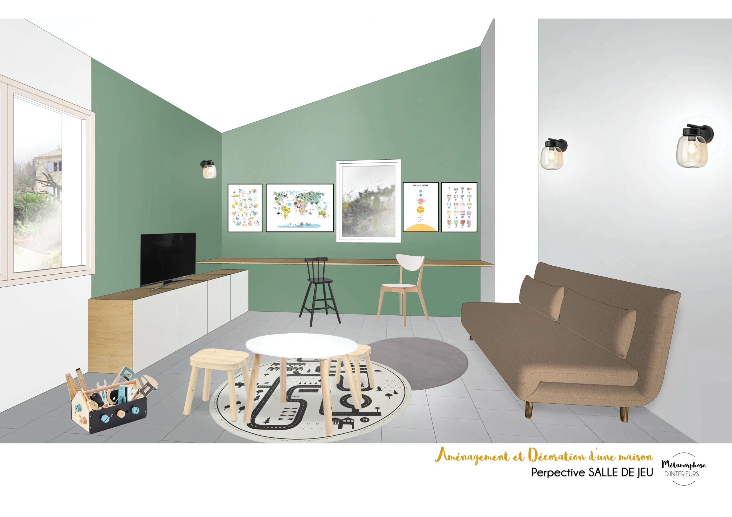MAISON MANDUEL -Aménagement intérieur et décoration - salle de jeu