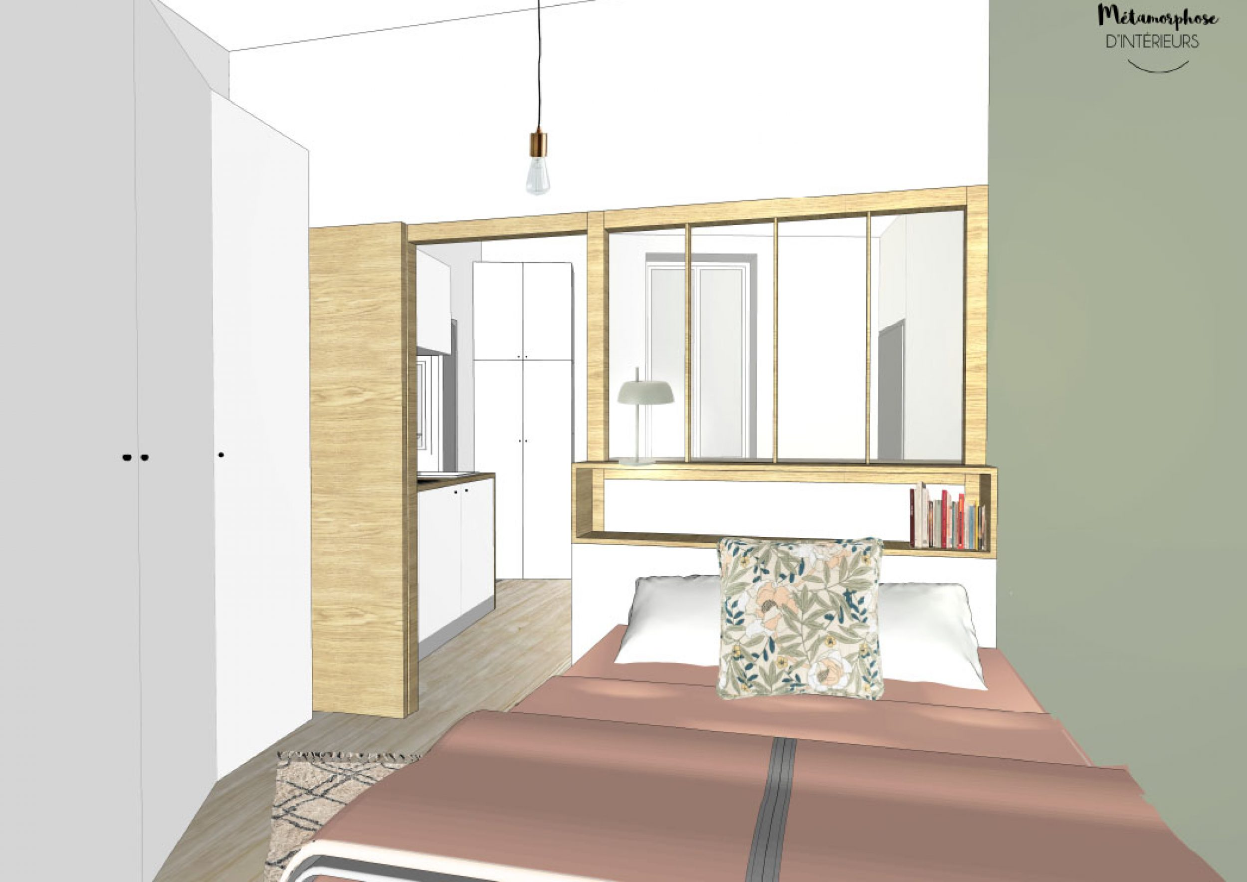 T1 BIS a louer - PERSPECTIVE CHAMBRE