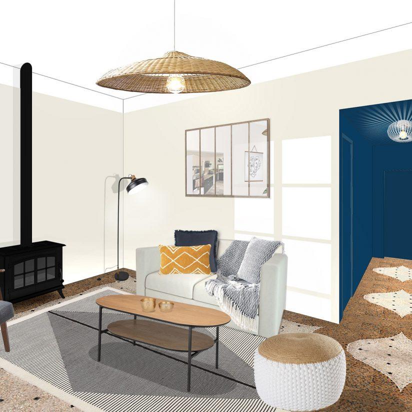 Aménagement intérieur et décoration d'une maison des années 50 - Arles - SALON