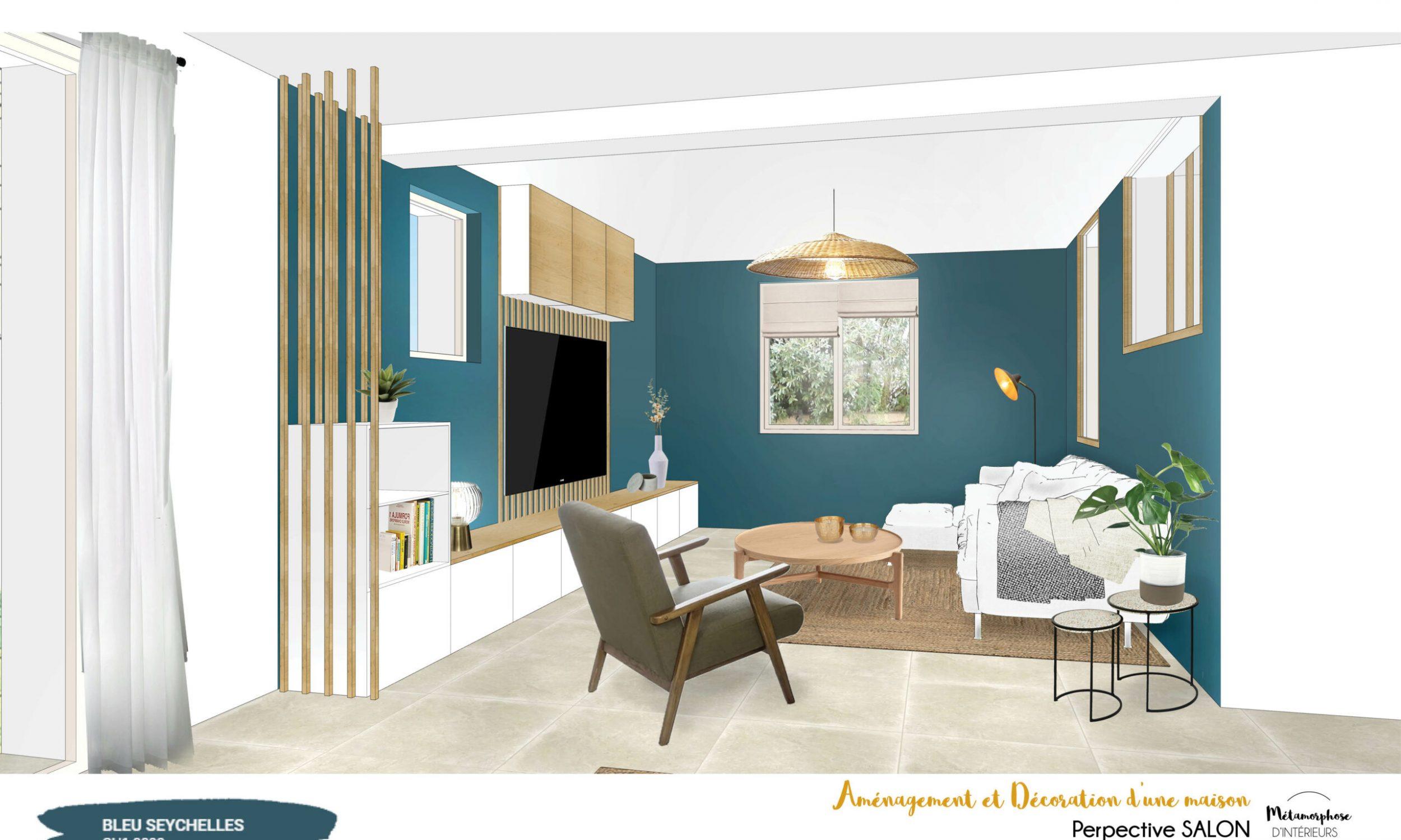 MAISON MANDUEL -Aménagement intérieur et décoration - salon