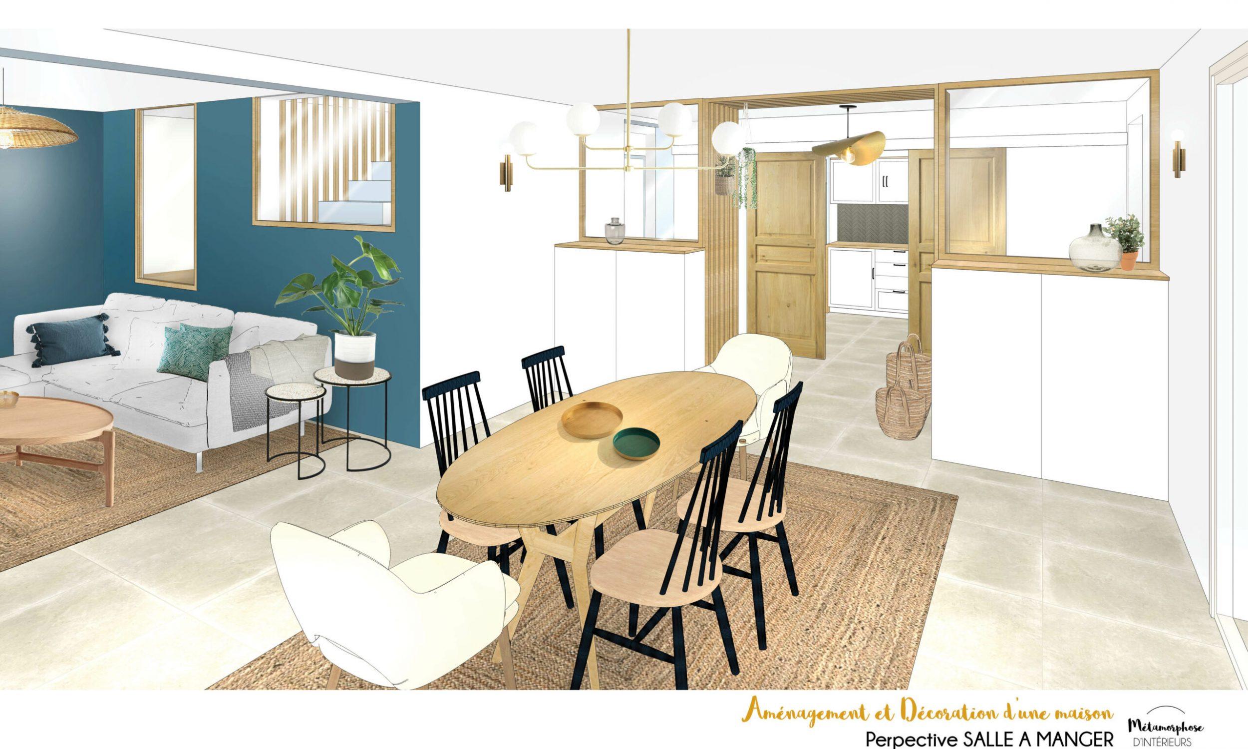 MAISON MANDUEL -Aménagement intérieur et décoration - salle a manger