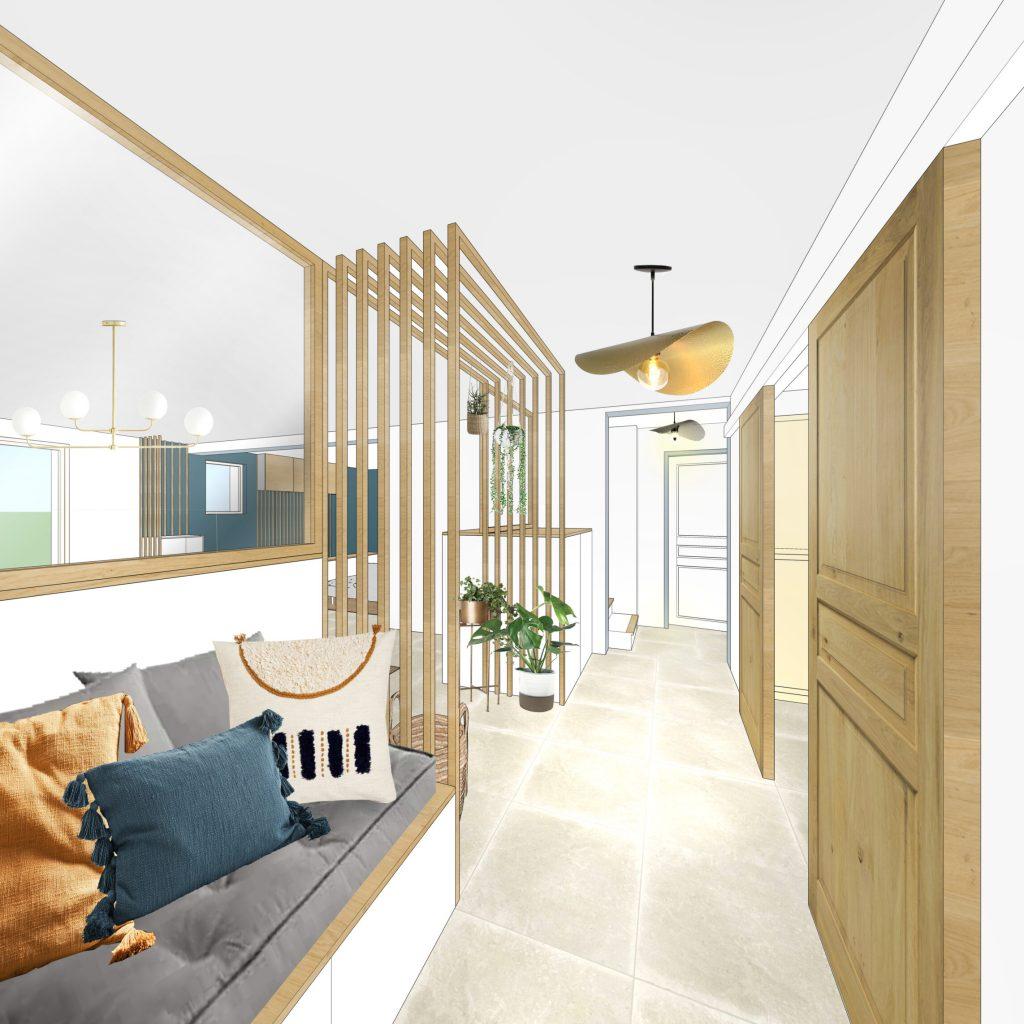 MAISON MANDUEL -Aménagement intérieur et décoration - Entrée